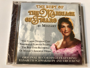 The Best Of The Marriage Of Figaro By Mozart / Original Recordings Featuring Elisabeth Schwarzkopf And Erich Kunz / Prism Leisure ‎Audio CD 2004 / PLATCD 1231