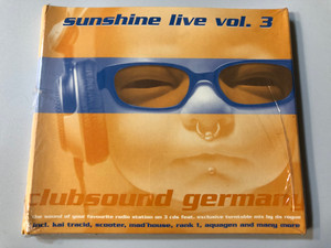 Sunshine Live Vol. 3 / Clubsound Germany / The sound of your favourite radio station on 3 cds feat. exclusive turntable mix by da rogue / incl. Kai Tracid, Scooter, Mad'house, Rank 1, Aquagen / Toptrax Recordings 3x Audio CD / TOP 10004-2