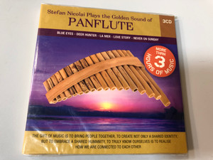 Stefan Nicolaï Plays the Golden Sound of Panflute / Blue Eyes, Deer Hunter, La Mer, Love Story, Never On Sunday / The Gift Of Music Is To Bring People Together, To Create Not Only A Shared Identity / Luxury Multimedia 3x Audio CD 2009 / 9030322