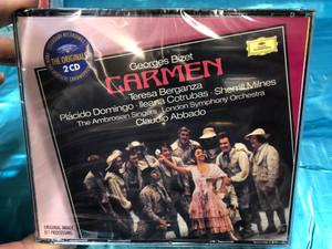 Georges Bizet - Carmen / Teresa Berganza, Placido Domingo, Ileana Cotrubas, Sherrill Milnes, The Ambrosian Singers, London Symphony Orchestra, Claudio Abbado / Deutsche Grammophon 2x Audio CD Stereo / 00289 477 5342