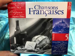 Chansons Françaises - Volume 5 / Maurice Chevalier, Berthe Sylva, Edith Piaf, Henri Salvador, Leo, Tino Rossi, Lucienne Delyle, Jean Sablon, Ray Ventura / Weton-Wesgram 3x Audio CD 2001 / KBOX3281