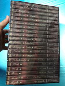 Silverline Classics - DVD-Video Collection in Dolby Digital 5.1 / MEGA DVD Box / 20 DVD / Placido Domingo, Beethoven, Schumann, Mozart, Chopin, Strauss, Debussy, verdi, Tchaikovsky, Verdi, Haydn (4028462800002)