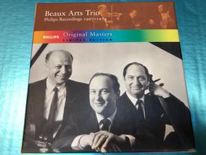Beaux Arts Trio - Philips Recordings 1967-1974 / Original Masters - Limited Edition / 4 CDs / Philips - Decca Audio CD 2003 / Daniel Guilet violin, Isidore Cohen, Bernard Greenhouse, Menahem Pressler (028947517122)