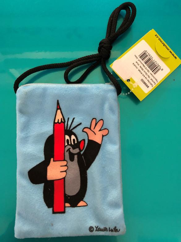 Krtek - Mole bag-sachet 15x10cm, blue / Taštička na krk Krtek 15x10cm, modrá / Täschchen 15x10 Maulwurf, blau / 99980D (8590121503419)