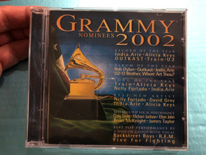 Grammy Nominees 2002 / Record Of The Year: India.Arie, Alicia Keys, OUTKAST, Train, U2 / Album Of The Year: Bob Dylan, Outkast, India.Arie, U2, O Brother, Where Art Thou? / Grammy Recordings Audio CD 2002 / 584 705-2