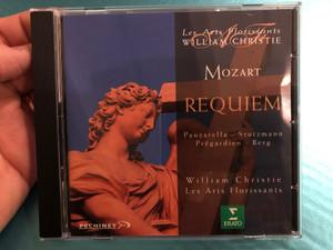 Les Arts Florissants - William Christie – Mozart - Requiem / Panzarella, Stutzmann, Pregardien, Berg / Erato Audio CD 1995 / 0630-10697-2