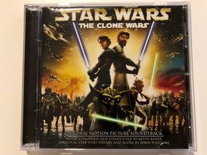 Star Wars - The Clone Wars OST - Original Motion Picture Soundtrack / Composed & Conducted By Kevin Kiner / Original Star Wars Themes And Score by John Williams / Sony Classical Audio CD 2008 (886973599525)