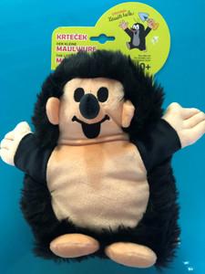 Hedgehog Hand puppet 23cm black (Little Mole) / Ježek maňásky 23cm černý (Krteček) / Igel Handpuppe 23cm schwarz (kleiner Maulwurf ) / Sündisznó kézi báb 23cm fekete (Kisvakond) / 20905A / Ages 0+ (8590121209052)