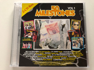 50 Milestones Vol 1 / Bellamy Brothers – Let Your Love Flow. F.R. David - Words, Jan & Dean – California Girls, Chris Andrews – Sugar Daddy, Peppers – Pepper Box, Herman's Hermits –No Milk Today / Block Buster 2x Audio CD 1997 / 5394 S