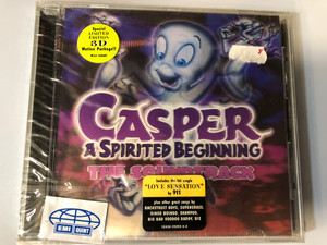 Casper - A Spirited Beginning (The Soundtrack) / Includes the hit single ''Love Sensation'' by 911 / Plus other great songs by Backstreet Boys, Supergrass, Oingo Boingo, Shampoo, Big Bad Voodoo Daddy / Saban Records Audio CD 1997 / 7243 8 59293 2 8