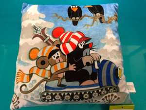 Krtek - Pillow Mole 25x25cm - glitter / Polštář 25x25cm Krtek (Krteček), třpyt skútr / Kissen Maulwurf 25x25cm, Glitzer / Kisvakond párna csillámlás / Hand made and designed in Czech / 998270 / Ages 0+ (8590121998277)