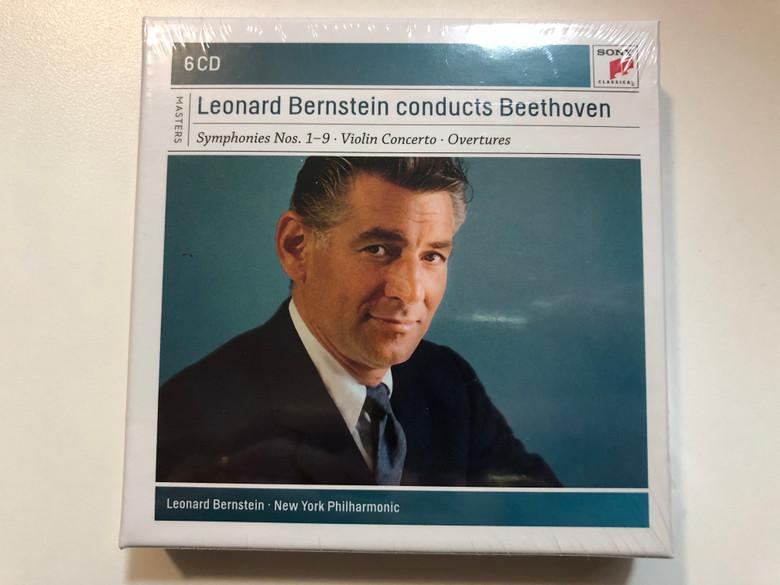Leonard Bernstein Conducts Beethoven - Symphonies Nos. 1-9, Violin Concerto, Overtures / Leonard Bernstein, New York Philharmonic / Sony Classical 6x Audio CD 2010 / 88697683912