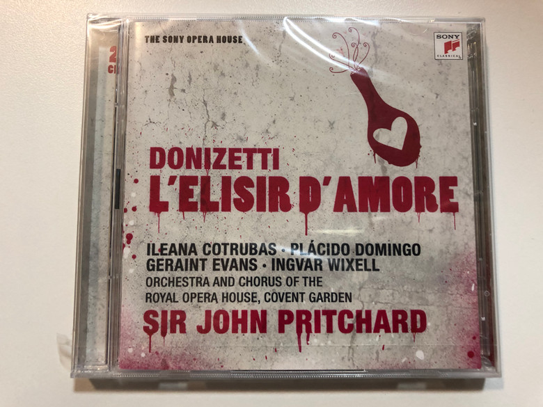 Donizetti - L'Elisir d'Amore / Ileana Cotrubas, Placido Domingo, Geraint Evans, Ingvar Wixell / Orchestra And Chorus Of The Royal Opera House, Covent Garden / Sir John Pritchard / Sony Music 2x Audio CD 2009 / 88697446442