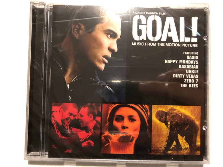 A Danny Cannon Film - Goal! (Music From The Motion Picture) / Featuring: Oasis, Happy Mondays, Kasabian, Unkle, Dirty Vegas, Zero 7, The Bees / Big Brother Audio CD 2005 / 82876 743522