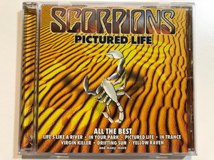 Scorpions – Pictured Life (All The Best) / Life's Like A River, In Your Park, Pictured Life, In Trance, Virgin Killer, Drifting Sun, Yellow Raven, and many more / BMG Audio CD 2000 Stereo / 74321 73842 2