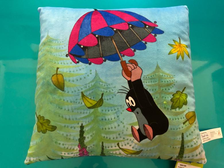 Krtek Pillow - Little Mole flying 30x30cm / Krtek polštář 30x30cm, letÍcÍ / Kissen Maulwurf, fliegend / Kisvakond párna, repülő / Made in Czech Republic / 99915R (8590121504362)