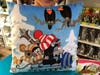 Krtek Pillow - Little Mole in snowmobile 30x30cm / Krtek polštář 30x30cm, sněžný skútr / Kissen Maulwurf, Schneemobil / Kisvakond párna, hójáró autó / Made in Czech Republic / 99915O (8590121502979)