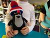 Plush Mole (Krtek) with knitted removable cap blue-tricolor / 24cm / Krtek s pletenou sundavací čepicí / Plüsch Maulwurf Mütze blau / Kisvakond levehető téli sapkával, kék-háromszínű / 45906I (8590121501378)