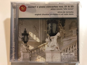 Mozart - Piano Concertos Nos. 21 & 23, Piano Sonata ''alla turca'' / Alicia De Larrocha, English Chamber Orchestra, Sir Colin Davis / BMG Music Audio CD 2002 Stereo / 09026 63977 2