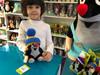 Plush Mole (Krtek) sitting, with knitted removable cap blue / 20cm / Developing child's tactile abilities / Krtek sedící modrý kulich / Maulwurf sitzung mit Mütze blau / Kisvakond ülő, téli sapkával / 48902G / Ages 0+ (8590121501767)
