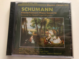 Schumann – Klavierkonzert, Piano Concerto / Kanons fur Pedalfugel-Mignon / Martha Bergreich - piano, Hans-Christoph Becker-Voss - organ, Berliner Festspielprchester, Vladimir Petroschoff - conducted / Masters Classic Audio CD / CLS 4010