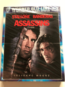 Assassins Bluray Disc 1995 / Directed by Richard Donner / Starring: Sylvester Stallone, Antonio Banderas, Julianne Moore (5051889155119)