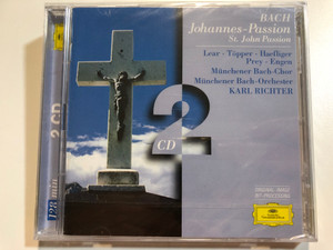 Bach – Johannes-Passion (St. John Passion) / Lear, Töpper, Haefliger, Prey, Engen / Münchener Bach-Chor, Münchener Bach-Orchester, Karl Richter / Deutsche Grammophon 2x Audio CD / 453 007-2