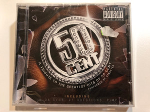 50 Cent - A Tribute To The Greatest Hits Of 50 Cent / Performed by Gangster / Including: In Da Club, 21 Questions, P.I.M.P. / Prism Leisure Audio CD 2003 / PLATCV 8333