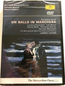 Giuseppe Verdi - Un Ballo In Maschera 2002 (1992) DVD Three acts melodrama / Conductor: James Levine / Libretto by Antonio Somma / Luciano Pavarotti, Leo Nucci, Florence Quivar, Harolyn Blackwell / Deutsche Grammophon (0044007302996)