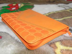 Arabic Orange Leather Bible / Godlen Edges, With Zipper, Mid Slim