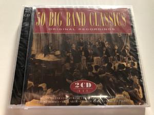 50 Big Band Classics (Original Recordings) / Glenn Miller, Count Basie, Harry James, Benny Goodman, Tommy Dorsey, Artie Shaw, Charlie Barnet, Duke Ellington / Castle Communications PLC 2x Audio CD 1995 / DCD CD 212