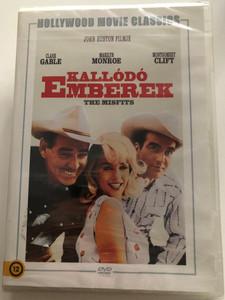 The Misfits DVD 1961 Kallódó Emberek / Directed by John Huston / Starring Clark Gable, Marilyn Monroe, Montgomery Clift / B&W Western (5999546335675)