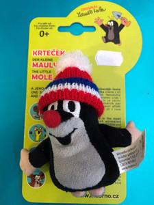 The Little mole - Finger puppet 10cm tricolor cap / Krteček prstový maňásek kulich červená trikolóra / Maulwurf - Fingerpuppe 10cm Mütze rot-trikolore / Kisvakond ujj báb piros téli sapka / 29906J / Ages 0+ (8590121503686)