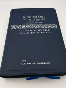 Vietnamese Holy Bible - Kinh Thánh Cuu Uoc Vá Tán Uoc / The Parallel Net Bible - Old & New Testaments / NXB Tón Giáo 2020 / Blue Vinyl Bound / Biblical Studies Press 2005 (9786046168874)