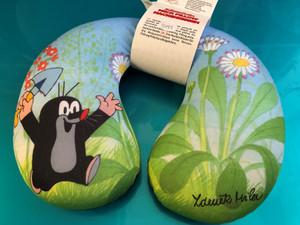 Little Mole 23x24cm Neck pillow - daisy / Krtek Zákrčník sedmik - Der kleine Maulwurf Nackenkissen / Kisvakond Utazó párna / Travel pillow filled with polystyrene beads 23 x 24cm / 38968D (8590121503723)