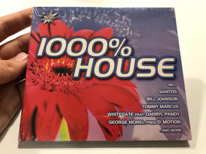 1000% House / Incl.: Santos, Bill Johnson, Tommy Marcus, Whitegate feat. Darryl Pandy, George Morel Pres. D'Motion, and more / Silver Star Audio CD 2001 / SIS 1019-2