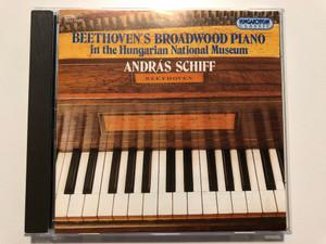 Beethoven's Broadwood Piano in the Hungarian National Museum - András Schiff piano / Hungaroton Classic Audio CD 1994 / HCD 11885 (5991811188528)