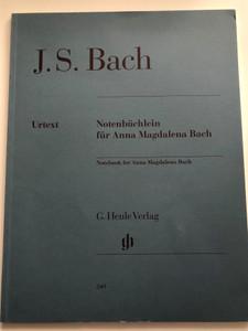 J.S. Bach - Notenbüchlein für Anna Magdalena Bach / Notebook for Anna Magdalena Bach / G.Henle Verlag / Fingering - Fingersatz von Hans-Martin Theopold / Paperback / HN 349 (9790201803494)