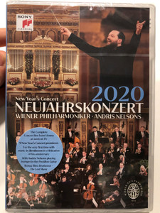 New Year's Concert DVD 2020 Neujahrskonzert / Directed by Michael Beyer / Recorded Live 2020 on January 1 / Andris Nelsons playing trumpet / Wiener Philharmoniker, Sony Classical (194397023794)