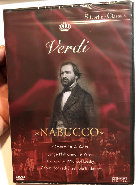 Giuseppe Verdi DVD 2003 Nabucco Opera In 4 Acts / Conductor: Michael Lessky / Orchestra Junge Philharmonie Wien / Cast: Walter Donati, Galiana Kalinina, Alessandro Teliga / Silverline Classics series / Cascade Medien (4028462800170)