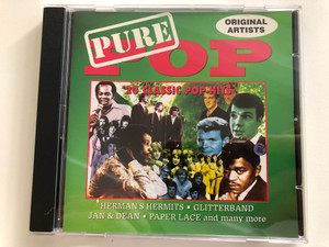 Pure Pop / Original Artists / Herman's Hermits, Glitterband, Jan & Dean, Paper Lace and many more / Fat Boy Records Audio CD 1994 / FAT CD 206