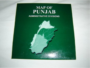 Map of Punjab - Administrative Divisions / Pakistan / Scale 1:870,000 [Map]