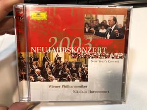 Neujahrskonzert 2003 - New Year's Concert / Wiener Philharmoniker, Nikolaus Harnoncourt / Deutsche Grammophon 2x Audio CD 2003 Stereo / 474 250-2
