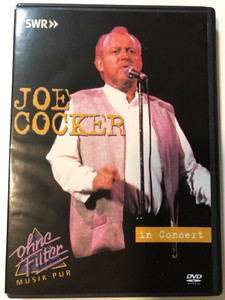 """Joe Cocker in Concert DVD 1996 / Recorded during the """"Organic Tour"""", October 15th 1996 / Producer: Michael Alu / Darlin' be home soon, Heart full of rain, Dignity, Into the Mystic (094634884594)"""