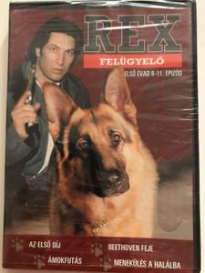 Komissar Rex - Inspector Rex (Rex felügyelő) DVD 2007 / Directed by Bodo Fürnesien / Starring: Tobias Moretti, Karl Markovich, Wolf Bachofner, Fritz Muliar / Season 1, Episodes 8-11 (5999546332148)