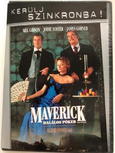 Maverick DVD 1994 Maverick - Halálos Póker / Directed by Richard Donner / Starring: Mel Gibson, Jodie Foster, James Garner, Graham Greene (5999048916457)
