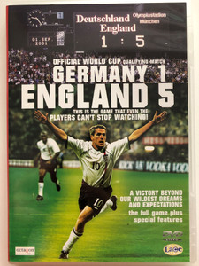 Germany 1 - England 5 DVD 2001 Official World Cup Qualifying Match / The full game plus special features / Relive glorious moments when history was made / Octagon CSI (5037899001578)