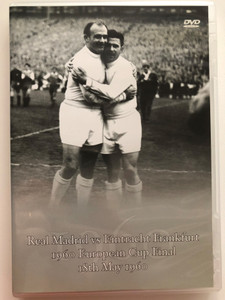 Real Madrid vs Eintracht Frankfurt DVD 1960 European Cup Final / Greatest European Cup final ever played / Relive this momentous occasion in football in original archive black & white film watching Puskás, Gento and Di Stefano (5034741275910)