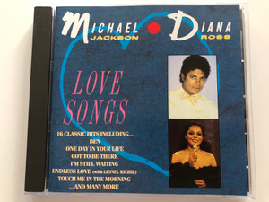 Michael Jackson, Diana Ross – Love Songs / 16 Classic Hits Including... Ben, One Day In Your Life, Got To Be There, I'm Still Waiting, Endless Love (with Lionel Richie), Touch Me In The Morning, and many more / Motown Audio CD / 530 010-2