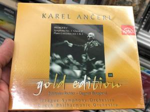 Karel Ančerl - Gold Edition 10 - Prokofiev: Symphony No. 1 'Classical', Piano Concertos Nos. 1 & 2 / Sviatoslav Richter, Dagmar Baloghová, Prague Symphony Orchestra, Czech Philharmonic Orchestra / Supraphon Audio CD 2002 Stereo / SU 3670-2 011
